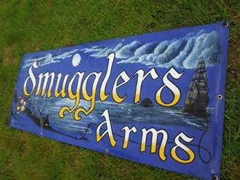 Smugglers Arms pub sign image